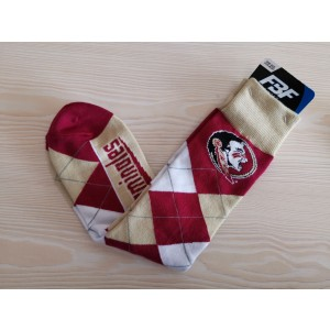 Florida State Seminoles Team Logo Red NCAA Socks