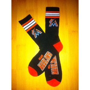 Miami Marlins Team Logo Black MLB Socks