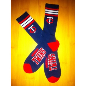Minnesota Twins Team Logo Blue MLB Socks