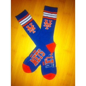 New York Mets Team Logo Blue MLB Socks