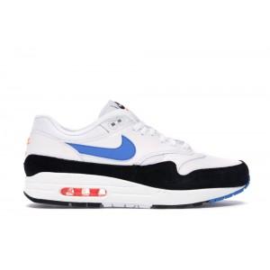 Air Max 1 White Photo Blue Black Shoes