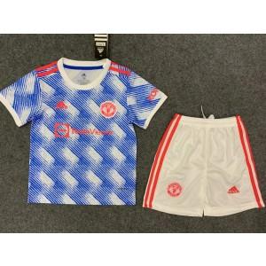 2021-22 Premier League Manchester United 2021-22 Away Kit For Kids