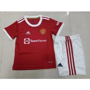 2021-22 Premier League Manchester United 2021-22 Home Kit For Kids