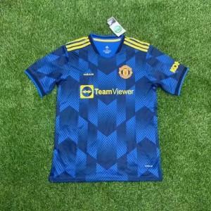 2021-22 Premier League Manchester United Blue Soccer Third Men Jersey