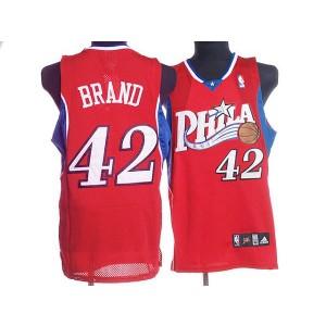 NBA 76ers 42 Elton Brand Red Men Jersey