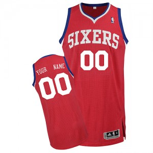 NBA 76ers Red Customized Men Jersey