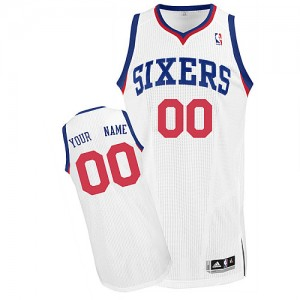 NBA 76ers White Customized Men Jersey