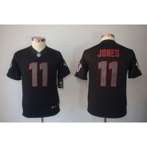 Nike Falcons #11 Julio Jones Black Impact Youth Embroidered NFL Limited China jersey