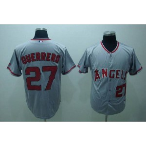 MLB Angels 27 Vladimir Guerrero Grey Men Jersey