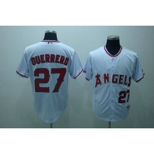 MLB Angels 27 Vladimir Guerrero White Men Jersey
