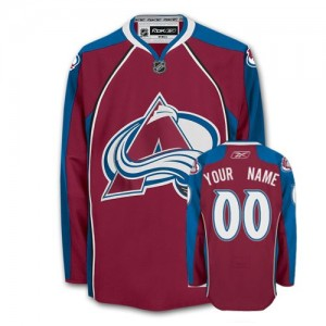 NHL Avalanche Red Customized Men Jersey
