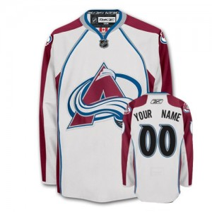 NHL Avalanche White Customized Men Jersey