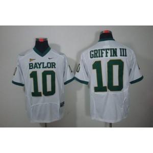 NCAA Baylor Bears 10 Robert Griffin III White Men Jersey