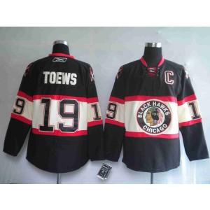 NHL Blackhawks 19 Jonathan Toews Black New Third Men Jersey