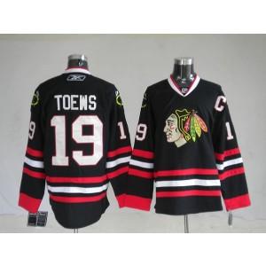 NHL Blackhawks 19 Jonathan Toews Black Men Jersey