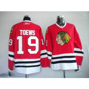 NHL Blackhawks 19 Jonathan Toews Red Men Jersey