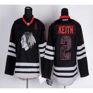 NHL Blackhawks 2 Duncan Keith Black Ice Men Jersey