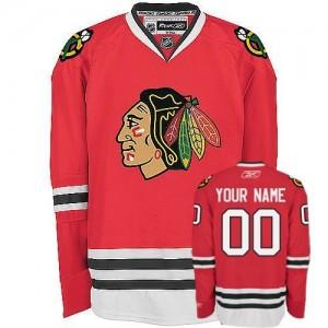 NHL Blackhawks Red Customized Men Jersey