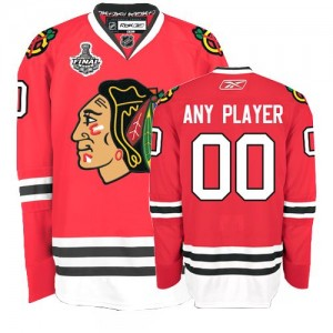 NHL Blackhawks Red Stanley Cup Finals Customized Men Jersey