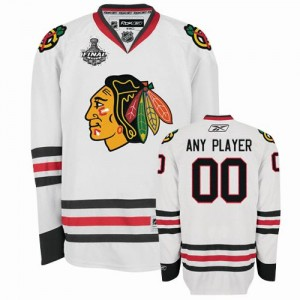 NHL Blackhawks White Stanley Cup Finals Customized Men Jersey