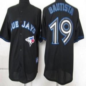 MLB Blue Jays 19 Jose Bautista Black Fashion Men Jersey