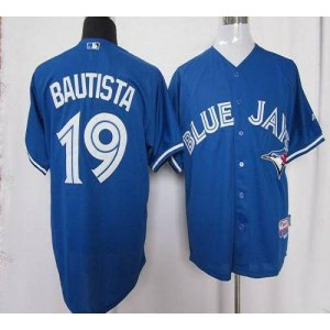 MLB Blue Jays 19 Jose Bautista Blue Cool Base 2012 Men Jersey