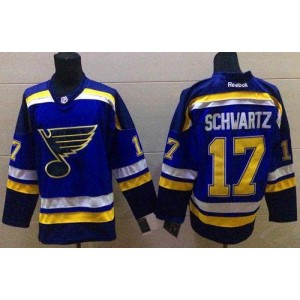 NHL Blues 17 Jaden Schwartz Light Blue Home Men Jersey