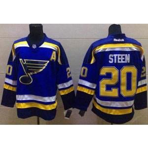 NHL Blues 20 Alexander Steen Light Blue Home Men Jersey
