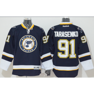 NHL Blues 91 Vladimir Tarasenko Dark Blue Third Men Jersey