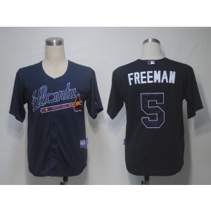 MLB Braves 5 Freddie Freeman Blue Cool Base Men Jersey
