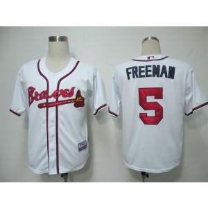 MLB Braves 5 Freddie Freeman White Cool Base Men Jersey