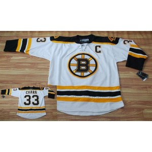 NHL Bruins 33 Zdeno Chara White Men Jersey
