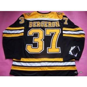 NHL Bruins 37 Patrice Bergeron Black Men Jersey