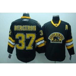 NHL Bruins 37 Patrice Bergeron Black Third Men Jersey