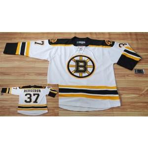 NHL Bruins 37 Patrice Bergeron White Men Jersey