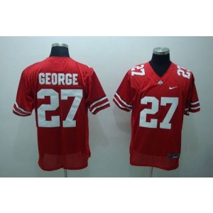 NCAA Ohio State Buckeyes 27 Eddie George Red Men Jersey