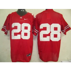 NCAA Ohio State Buckeyes 28 Red Men Jersey