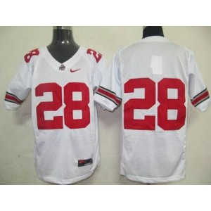 NCAA Ohio State Buckeyes 28 White Men Jersey