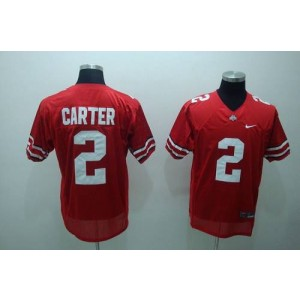 NCAA Ohio State Buckeyes 2 Cris Carter Red Men Jersey