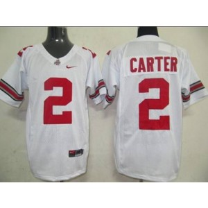 NCAA Ohio State Buckeyes 2 Cris Carter White Men Jersey