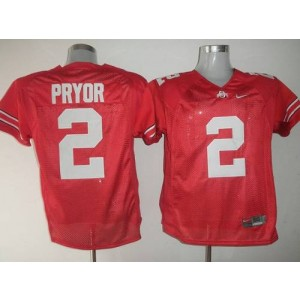 NCAA Ohio State Buckeyes 2 Terrelle Pryor Red Men Jersey