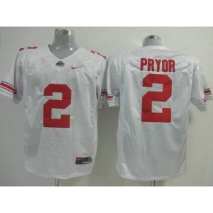 NCAA Ohio State Buckeyes 2 Terrelle Pryor White Men Jersey