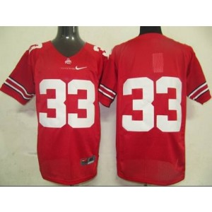 NCAA Ohio State Buckeyes 33 Red Men Jersey