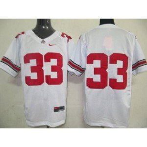 NCAA Ohio State Buckeyes 33 White Men Jersey