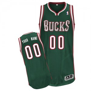 NBA Bucks Green Customized Men Jersey