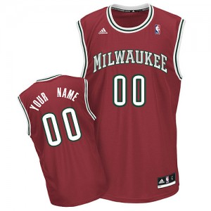 NBA Bucks Red Customized Men Jersey