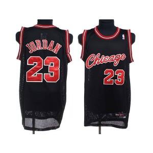 NBA Bulls 23 Michael Jordan Black Crabbed Typeface Men Jersey