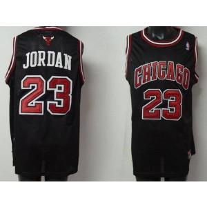 NBA Bulls 23 Michael Jordan Black Men Jersey