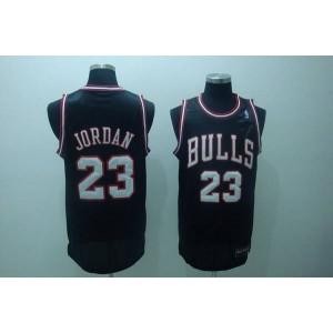 NBA Bulls 23 Michael Jordan Black White Number Men Jersey