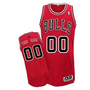 NBA Bulls Red Customized Men Jersey